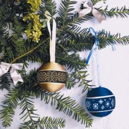 Předloha online - Vánoční ozdoby - koule