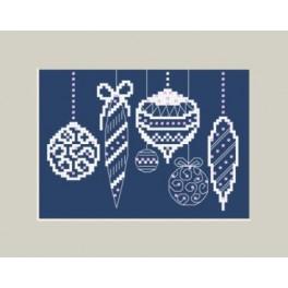Předloha on line - Vánoční přání s vánoční koule