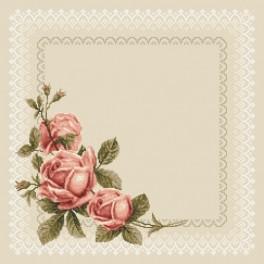 W 8574 Předloha on line - Ubrousek s růžemi