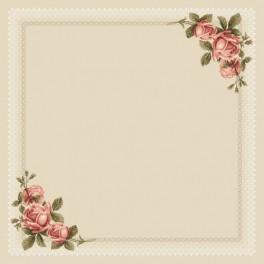 Předloha on line - Ubrus s růžemi
