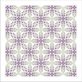 Předloha on line - Ubrus s fialkami