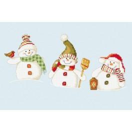 Předloha on line - Veselí sněhuláci