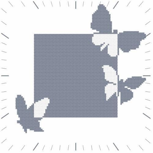 W 8674 Předloha ONLINE pdf - Hodiny s motýly
