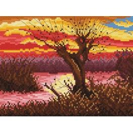 W 869 Předloha online - Podzim u rybníka