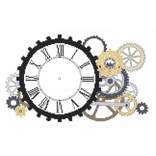 W 8701 Předloha ONLINE pdf - Steampunkové hodiny