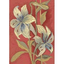 Předloha online - Modré lilie