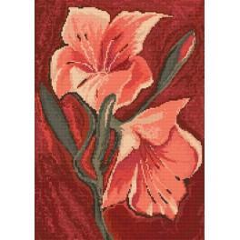 Předloha online - Růžové lilie