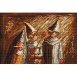 Předloha online - Tři děti s Hermovou holí