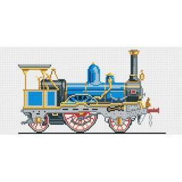 4093 Modrá lokomotiva - Předtištěná kanava
