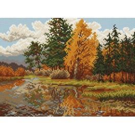 Podzimní krajinka - Předtištěná kanava