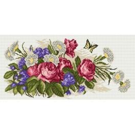 Kytice růží - Předtištěná kanava