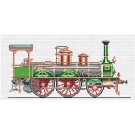 4212 Zelená lokomotiva - Předtištěná kanava