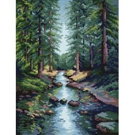 S.Sikora - Lesní potok - Předtištěná kanava