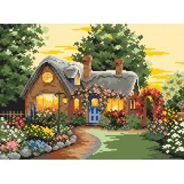 Květinový domek - Předtištěná kanava