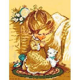 5103 Modlící se holčička - Předtištěná kanava