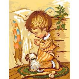 Modlící se chlapec - Předtištěná kanava