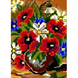Máky vkvětináči - Předtištěná kanava