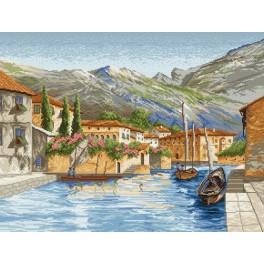 Městečko u vody - Předtištěná kanava