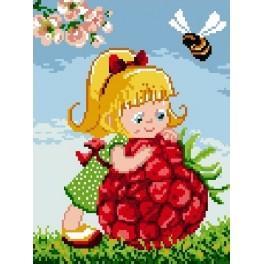 Girl with raspberry - Předtištěná kanava