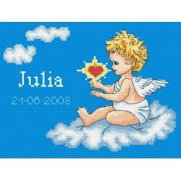 Moje narození– Andělíček na obláčku - Předtištěná kanava