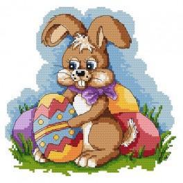 K 4851 Velikonoční zajíček - Předtištěná kanava