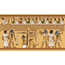 Papyrusový detail - Předtištěná kanava