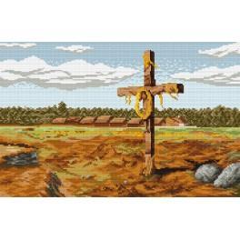 Kříž - J. Chelmonski - Předtištěná kanava