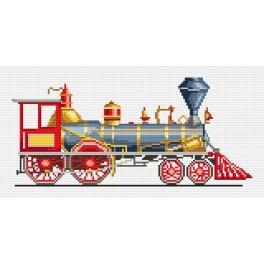 K 4282 Červená lokomotiva - Předtištěná kanava