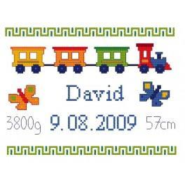 K 4427 Moje narození- Barevný vlak - Předtištěná kanava