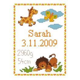 K 4429 Moje narození– Divoká zvířátka - Předtištěná kanava