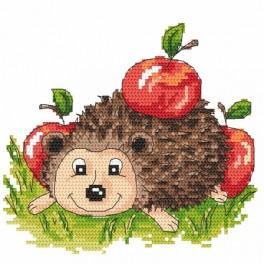 Ježek s jablky - Předtištěná kanava