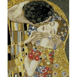 G. Klimt - Polibek - Předtištěná kanava