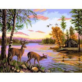 Forest Landscape - Předtištěná kanava