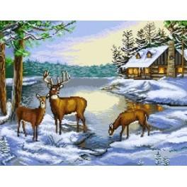 Winter Landscape - Předtištěná kanava