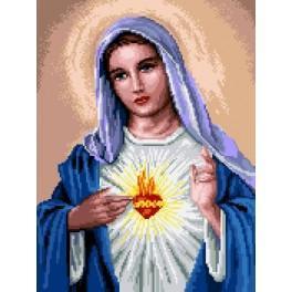 Mary with the heart - Předtištěná kanava