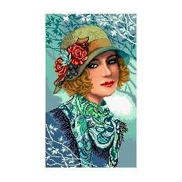 Žena v klobouku - Předtištěná kanava