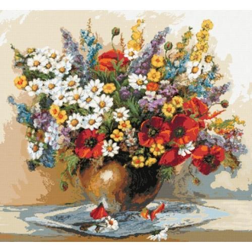 Kytice divokých květin - Předtištěná kanava