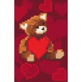 Medvídek se srdíčkem - Předtištěná kanava