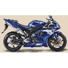 W 4153 Předloha online - Motocykly - modrý blesk