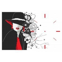 Předloha online - Hodiny - Tajemná dáma