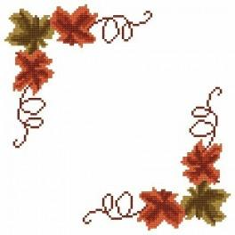 W 2266 Předloha online - Malý ubrousek - Podzimní listy