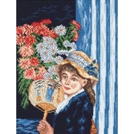 Předloha online - Dívka s vějířem - A. Renoir