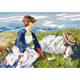 Předloha online - Dvě dívky na pahorku - F. Marc