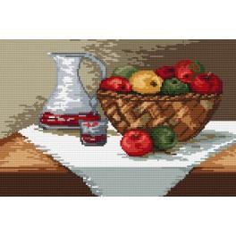 Předloha online - Košík jablek
