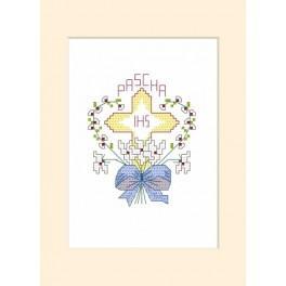 Předloha online - Velikonoční karta - Kříž v srdci