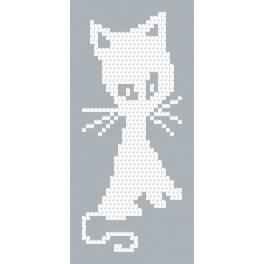 Předloha online - Bílé kotě