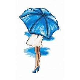 Předloha online - Modrý deštník