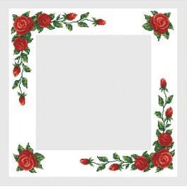 Předloha online - Ubrus s červenými růžemi - B. Sikora