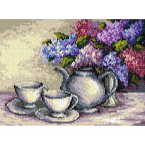 W 4457 Předloha ONLINE pdf - Zátiší s květy šeříků