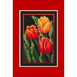 Předloha online - Narozeninová karta - Tulipány - B. Sikora